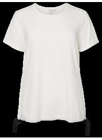 Junarose T-shirt Med Sløjfe Detaljer