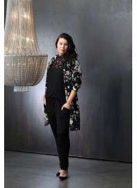 Zoey Kimono Med Blomster Print