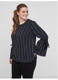 Junarose bluse med sløjfe Detalje På Ærmerne