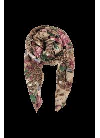 Black Colour JADE tørklæde leo / blomst