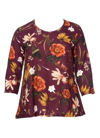 No 1 By Ox blouse with flower print bordeaux