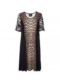 No 1 By Ox Leopard dress w. short lace sleeve