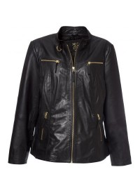 No 1 By Ox Biker jacket with gold zip
