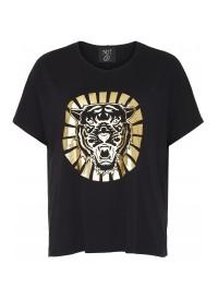 No 1 By Ox T-shirt tiger gold print