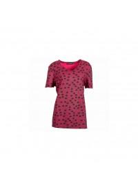 Handberg t-shirt med print pink