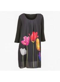 Handberg kjole med tulipaner