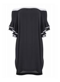 MAT sort hvid kjole