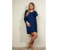 f66d266d Plaisir Bamboo Dark blue F2720-2 Nightdress/Big shirt