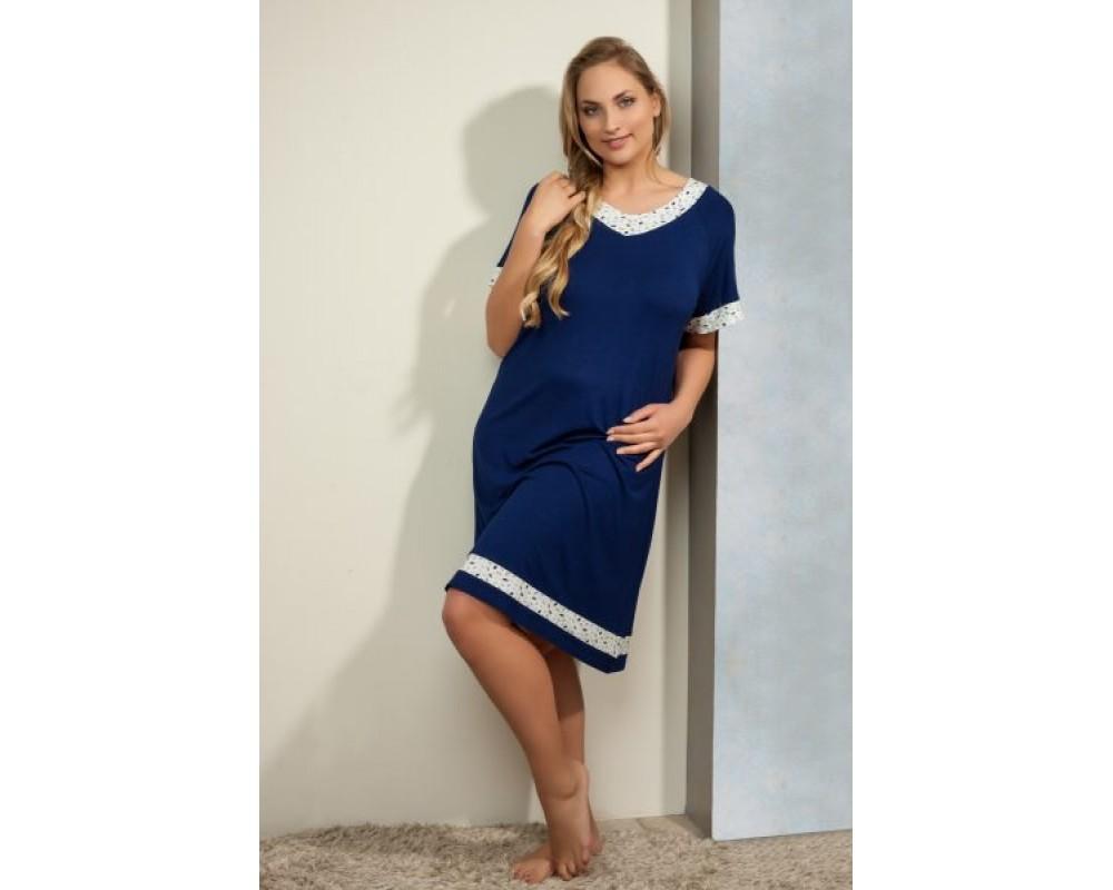 a54ded2f Plaisir Bamboo Dark blue F2906 Nightdress
