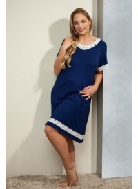 Plaisir Bamboo Dark blue F2906 Nightdress