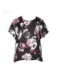 No 1 By Ox T-Shirt Med Blomster Print