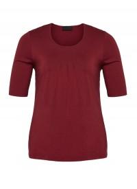 Q´neel T-Shirt i mørk rød