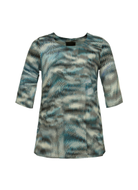 Q'neel blå mønstret bluse