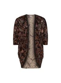 Que kimono i smukke efterårsfarver