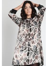 Que smuk kjole girafprint grøn