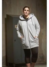Zhenzi RENOIR trænings sweatshirt med lynlås