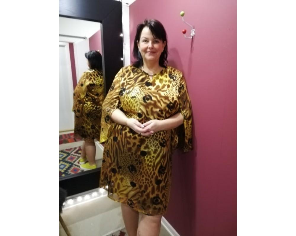 3bae93427a2 Elinette mønstret kjole