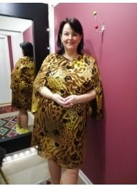 Elinette mønstret kjole