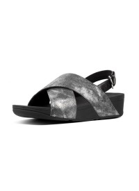 LULU™ CROSS SANDAL – Black Shimmer