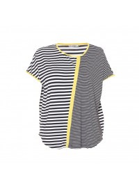 Gozzip stribet T-Shirt med gul detalje