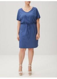 Junarose blå jersey kjole
