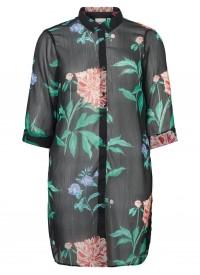 Blomsterprintet Lang skjorte