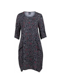 Pont Neuf juna kjole gråmønstret